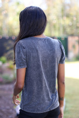 Acid Washed Tee Back View