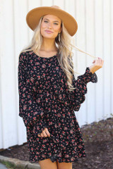 Black - Floral Dress from Dress Up