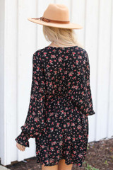 Floral Dress Back View