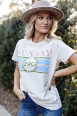 Ivory - Sunday Best Graphic Tee from Dress Up
