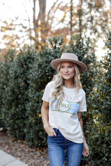 Model wearing the Sunday Best Graphic Tee