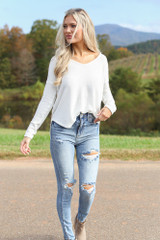 Light Wash - Distressed Skinny Jeans from Dress Up