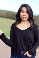 Black - Basic V-Neck Tee from Dress Up