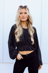Ashley Brushed Knit Crop Top