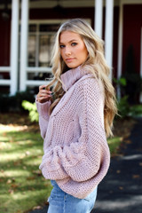 Naomi Oversized Cable Knit Sweater