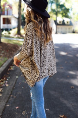 Oversized Leopard Top Side View