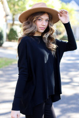Black - Oversized Luxe Knit Sweater from Dress Up