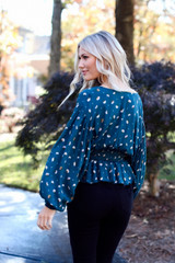 Smocked Floral Blouse Side View