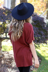 Brushed Ribbed Knit Tee Back View
