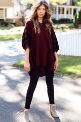 Oversized Striped Sweater Tunic