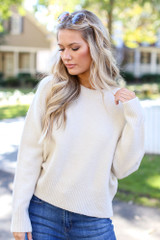 Ivory - Luxe Knit Sweater