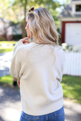 Luxe Knit Sweater Back View