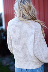 Cable Knit Sweater Back View