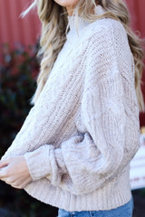 Dress Up model wearing a Cable Knit Sweater