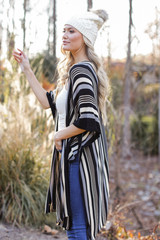 Striped Knit Kimono from Dress Up Side View