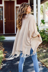 Tassel Cardigan Back View