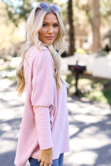 Pink - Oversized Brushed Knit Sweater from Dress Up