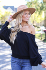 Black - Brushed Knit Top from Dress Up