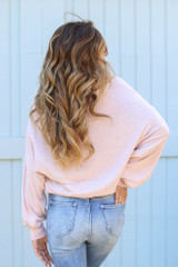 Brushed Knit Top in Blush Back View
