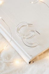 Clear - Close Up of Acrylic Hoop Earrings