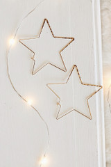 Gold - Star Hoop Earrings from Dress Up