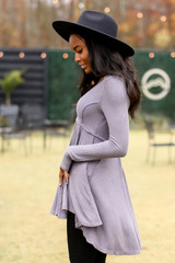Ribbed Knit Tunic Side View