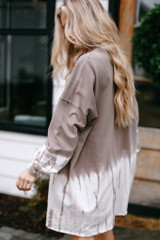 Taupe - Tie-Dye Pullover Dress from Dress Up