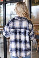 Oversized Flannel Shirt Jacket Back View