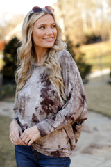 Mocha - Oversized Tie-Dye Top from Dress Up
