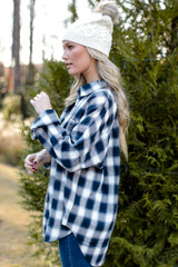 Oversized Flannel Side View
