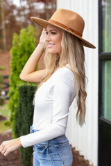 One-Shoulder Bodysuit in White Side View