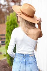 One-Shoulder Bodysuit in White Back View