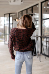 Luxe Knit Leopard Sweater Back View