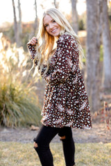 Leopard Tiered Babydoll Tunic Side View