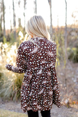 Leopard Tiered Babydoll Tunic Back View