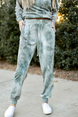 Tie-Dye Joggers Front View