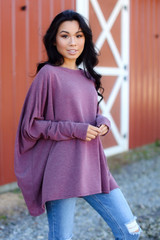 Wine - Oversized Knit Top from Dress Up