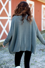 Oversized Knit Top in Back View