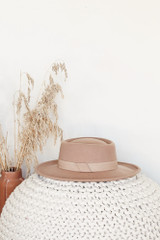 Nude - Wide Brim Hat on a white background