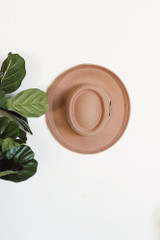 Wide Brim Hat in Nude Top View