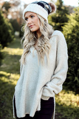 Ivory - Fuzzy Knit Sweater from Dress Up