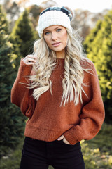 Camel - Brushed Knit Sweater from Dress Up