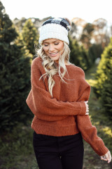 Brushed Knit Sweater in Camel