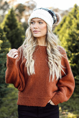 Front view of Dress Up Model wearing Brushed Knit Sweater