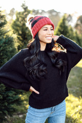 Brushed Knit Sweater in Black