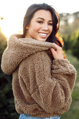 Mocha - Cropped Sherpa Jacket from Dress Up