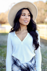 White - Ribbed Knit Top from Dress Up