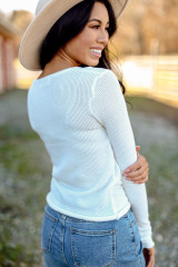 Ribbed Knit Top Back View
