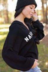 Nashville Cropped Hoodie Side View