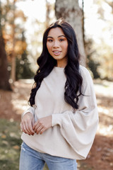 Oversized Soft Knit Sweater in Taupe